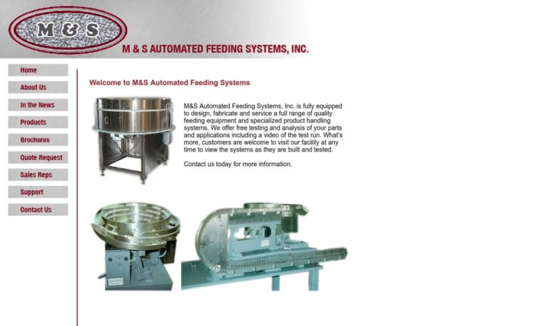 M & S Automated Feeding Systems, Inc.
