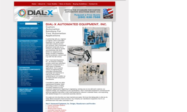Dial-X Automated Equipment, Inc.